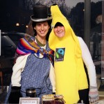 Kyla and MC show off their Fair Trade costumes