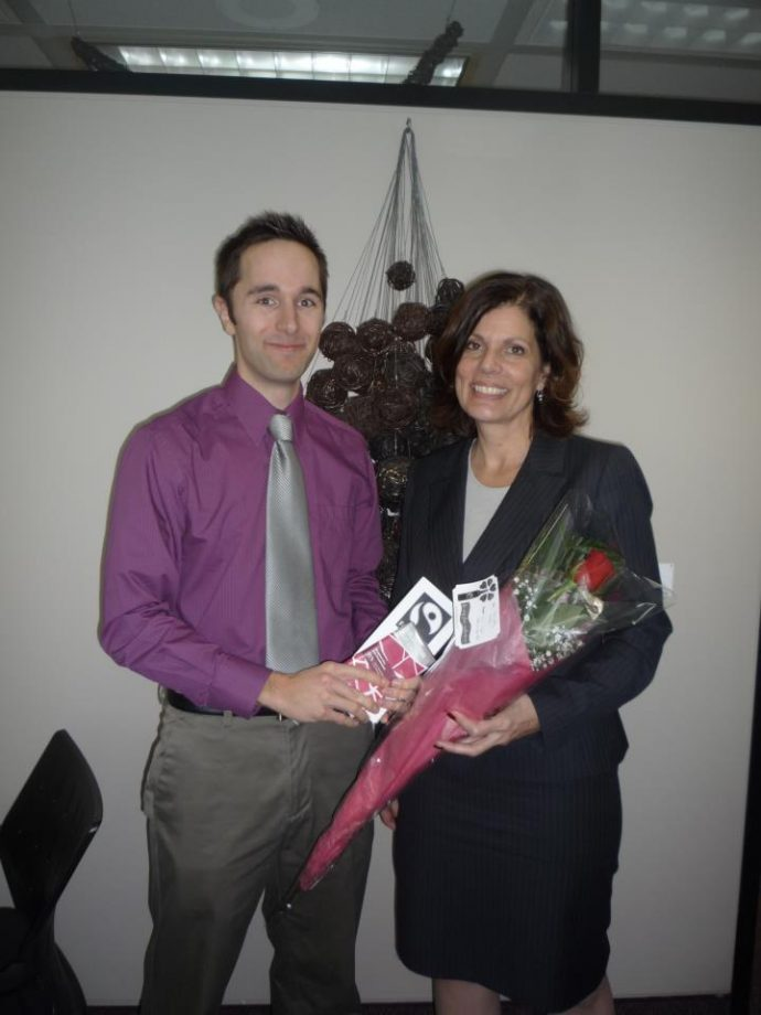 Michael Creighton with Councillor Katherine Hobbs (Kitchissippi)