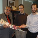 Michael Creighton and Dan Ironmonger with Councillor Eli El-Chantiry (West Carleton-March)