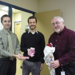 Michael Creighton and Dan Ironmonger with Councillor Allan Hubley (Kanata South)