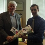 Michael Creighton with Councillor Doug Thompson (Osgoode)