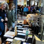 Guests peruse the silent auction items