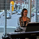 Cristalle's beautiful piano added extra class to the evening