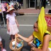 This little girl was very pleased to meet a talking banana!