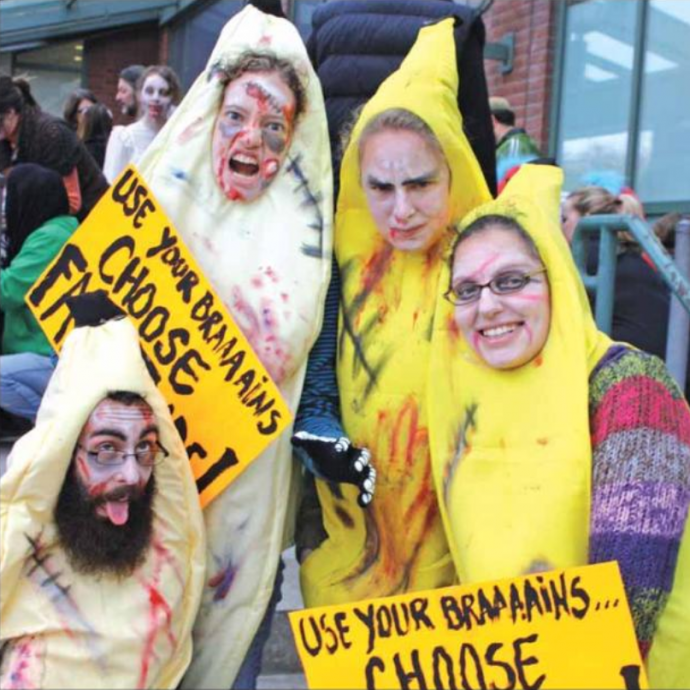 Wickedly Westboro zombie bananas